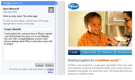 Google's Sidewiki – Game-changer for Pharma Social Media?