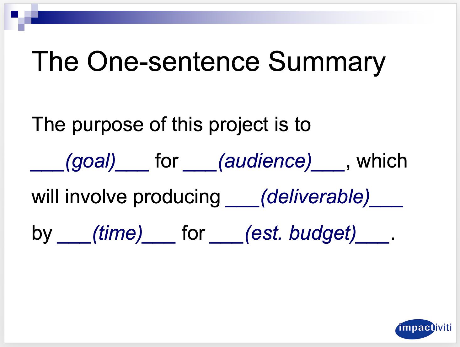 one-sentence